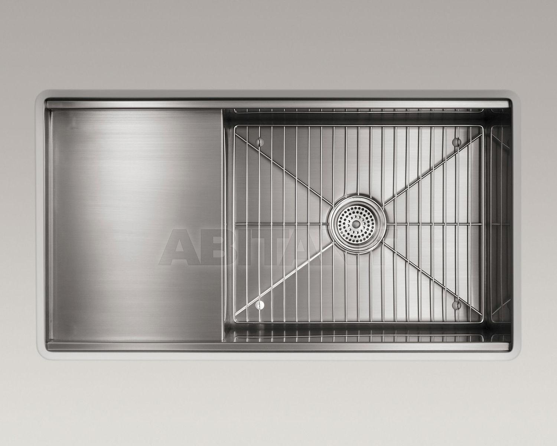 Раковина встраиваемая Stages серебрянная Kohler K-3760-NA