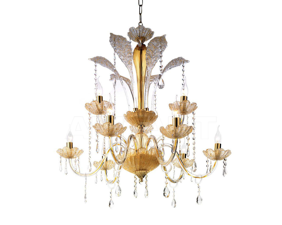 Купить Люстра Ciciriello Lampadari s.r.l. Lighting Collection GOCCIA ambra lampadario 9 luci