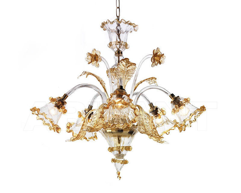 Купить Люстра Ciciriello Lampadari s.r.l. Lighting Collection ARTISTICO AMBRA lampadario 5 luci
