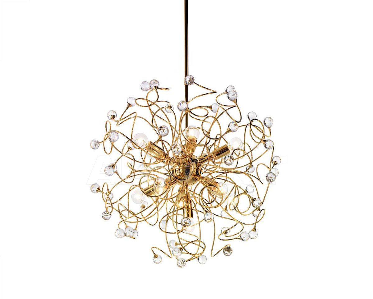 Купить Люстра Ciciriello Lampadari s.r.l. Lighting Collection PALLA oro lampadario 11 luci