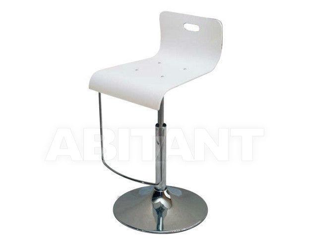 Барный стул светло серый di lazzaro plexy gas tondo sgabello