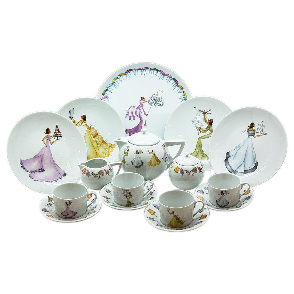 """Купить Сервиз чайный на 4 персоны, 16 предметов, декор """"Мадам принимает гостей"""", Haviland Haviland Madame reçoit"""
