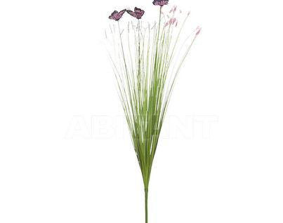 8J-15AB0002 Стебли травы с бабочками 70 см (крас.) (24)