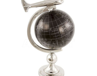 IK45231 Глобус с самолетом 64х52х54