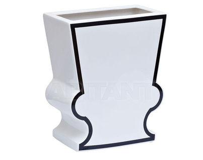 Y40 Ваза керамическая черно-белая 25,5*13*31