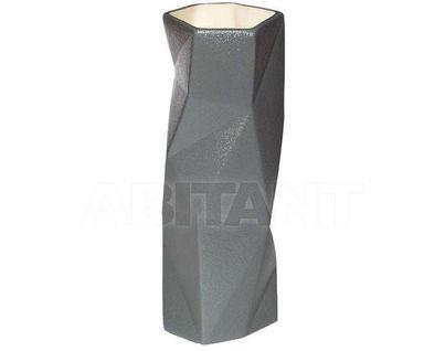 XG07 Ваза керамическая серая 9,5*9,5*25