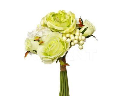 9F28018-4673 Букет розы-пионы бело-зеленый 30см (24)