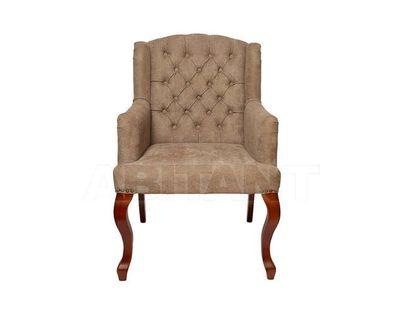 PJC591-PJ619 Кресло бархат серо-бежевый 96*65*70