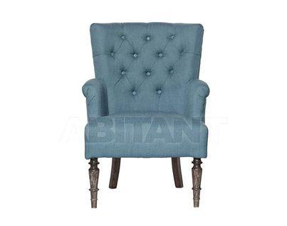 PJC298-J62 Кресло серо-голубой лен 970*675*750