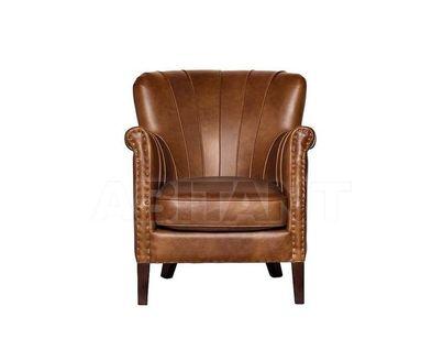 PJS17401-PJ430 Кресло кожа светло-коричневая 765*740*675