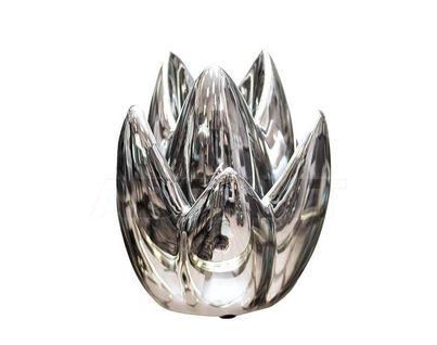 10K8152B Подсвечник серебряный 13*13*19.5