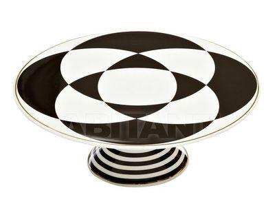 26FC VANITY CAKE28BL Подставка для торта 28см, черно-белая (1)