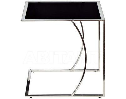 13RXNT5076L-SILVER Стол журнальный 50*45*49 черный/серебро