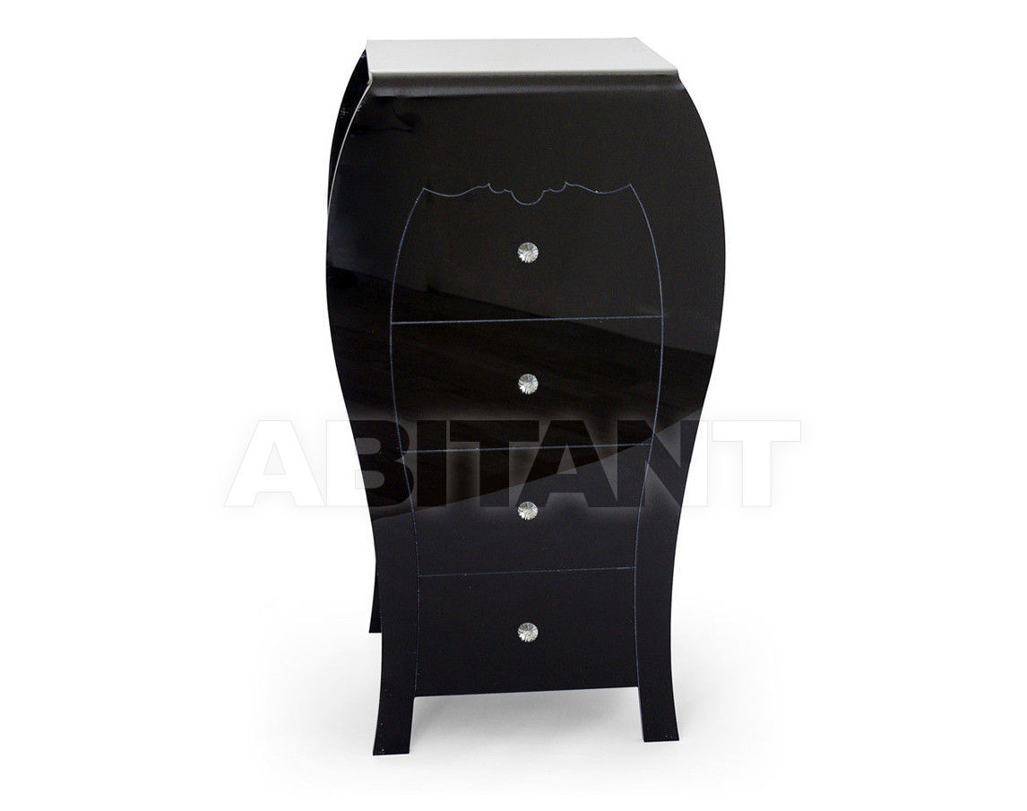 Купить Комод Acrila Gamme Coup D'éclat Coup d'éclat High Commode Black White with Swarovsky crystals