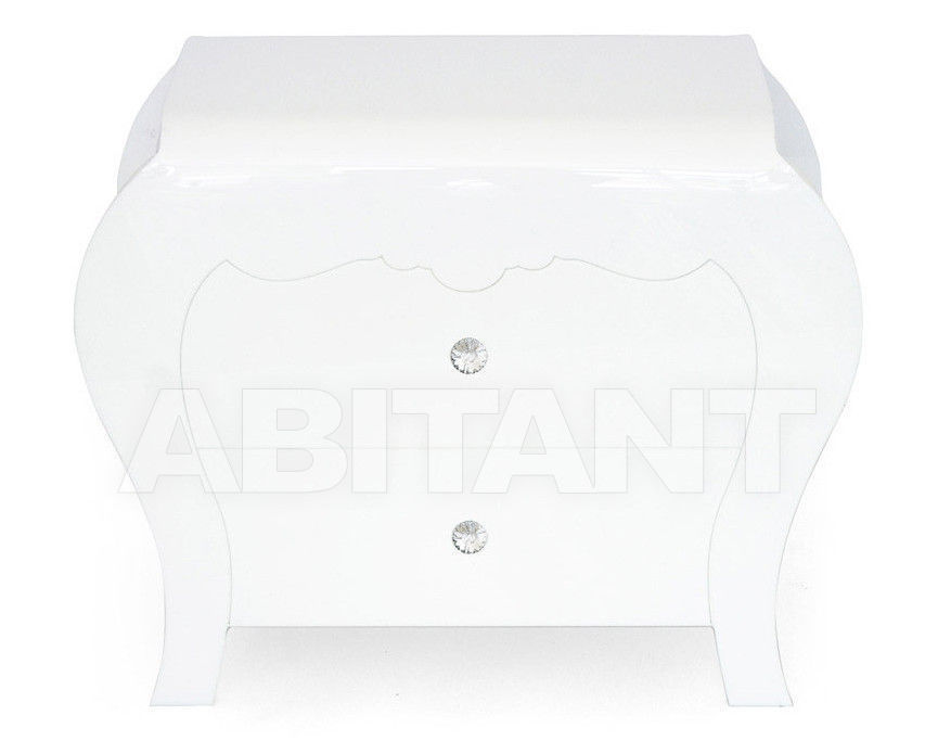 Купить Тумбочка Acrila Gamme Coup D'éclat Coup d'éclat Small Commode Black White with Swarovsky crystals