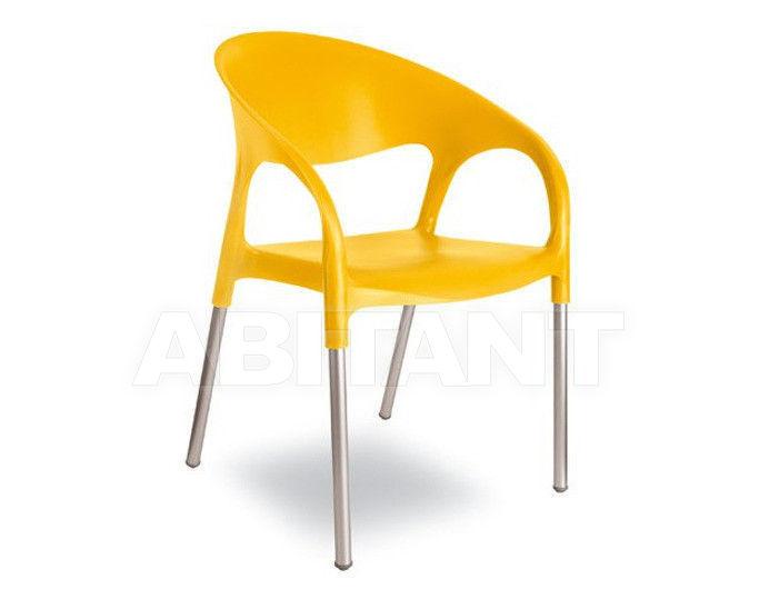 Купить Стул с подлокотниками LUNA Contral Outdoor 407 03 = giallo