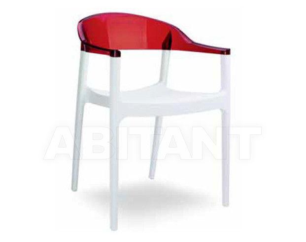 Купить Стул с подлокотниками CARMEN Contral Indoor 415 BCO/RO = bianco+rosso