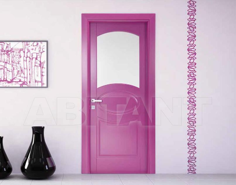 Купить Дверь деревянная Bertolotto Venezia nova v3 laccato viola vetro a infilare