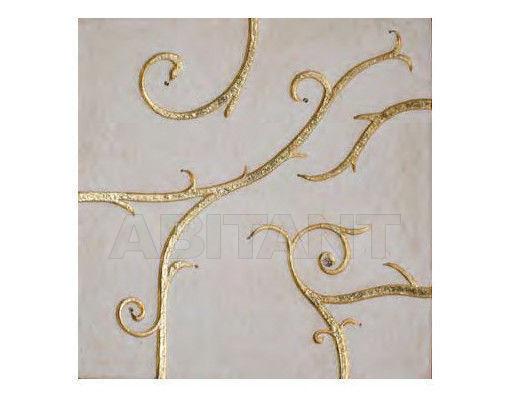 Купить Плитка настенная BDSR Giovanni Barbieri FLAMBOYANT White & Gold Leaf