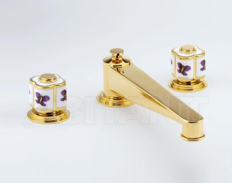 Купить Смеситель для раковины THG Bathroom A7D.25SG Capucine mauve butterfly gold decor