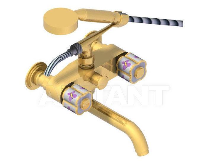 Купить Смеситель для ванны THG Bathroom A7D.13B Capucine mauve butterfly gold decor