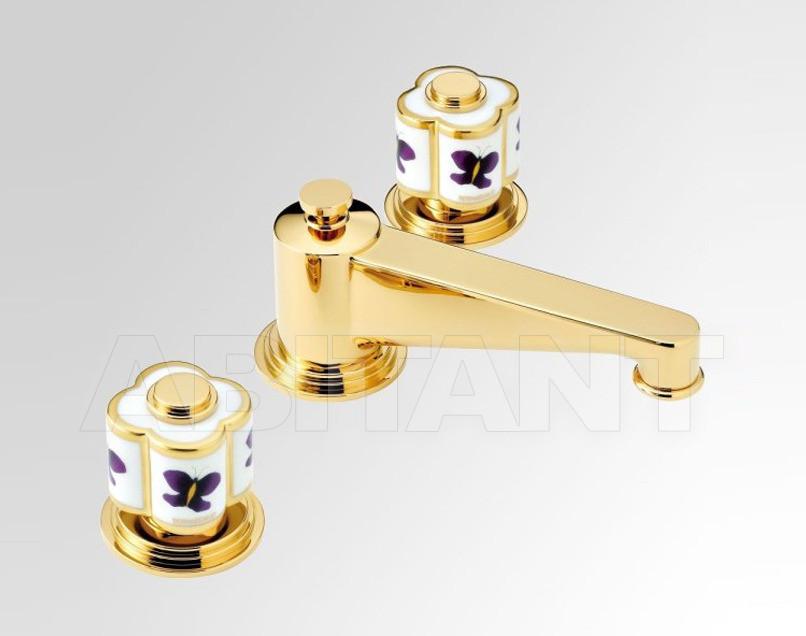 Купить Смеситель для раковины THG Bathroom A7D.151 Capucine mauve butterfly gold decor