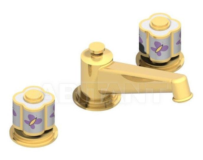 Купить Смеситель для раковины THG Bathroom A7D.152M Capucine mauve butterfly gold decor