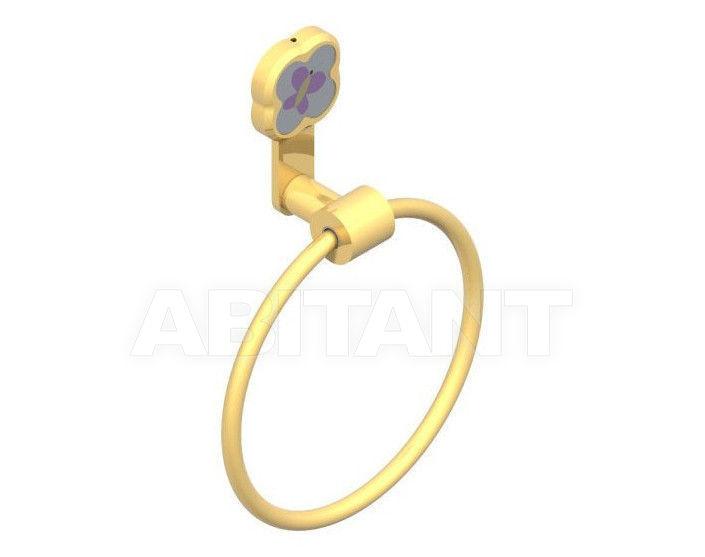 Купить Держатель для полотенец THG Bathroom A7D.504N Capucine mauve butterfly gold decor