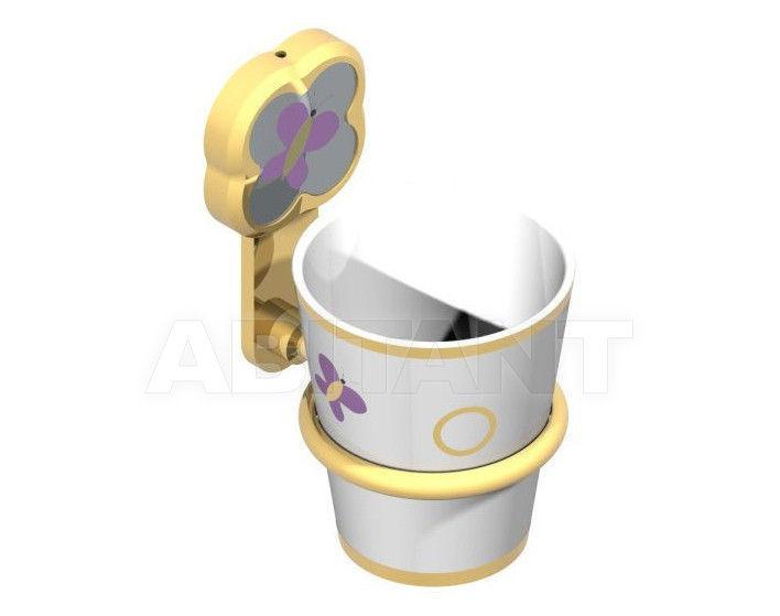 Купить Стаканодержатель THG Bathroom A7D.536B Capucine mauve butterfly gold decor