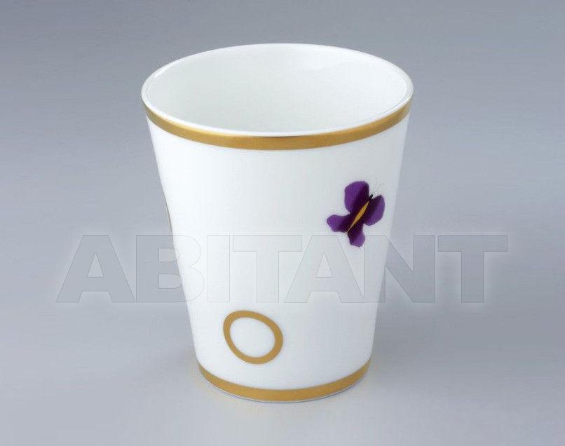 Купить Стакан для зубных щеток THG Bathroom A7D.4608 Capucine mauve butterfly gold decor