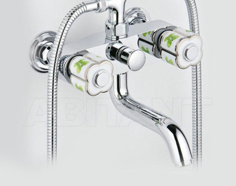 Купить Смеситель для ванны THG Bathroom A7E.13B Capucine vert décor Platine