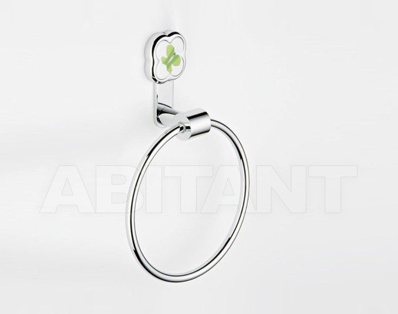 Купить Держатель для полотенец THG Bathroom A7E.504N Capucine vert décor Platine