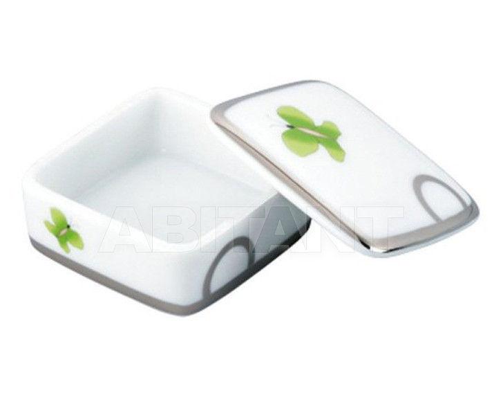 Купить Шкатулка THG Bathroom A7E.4617 Capucine vert décor Platine