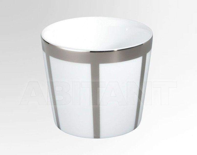 Купить Стакан для зубных щеток THG Bathroom A7B.4618 Ithaque platinum decor