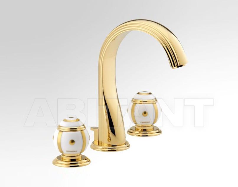 Купить Смеситель для раковины THG Bathroom A7A.151 Ithaque gold decor