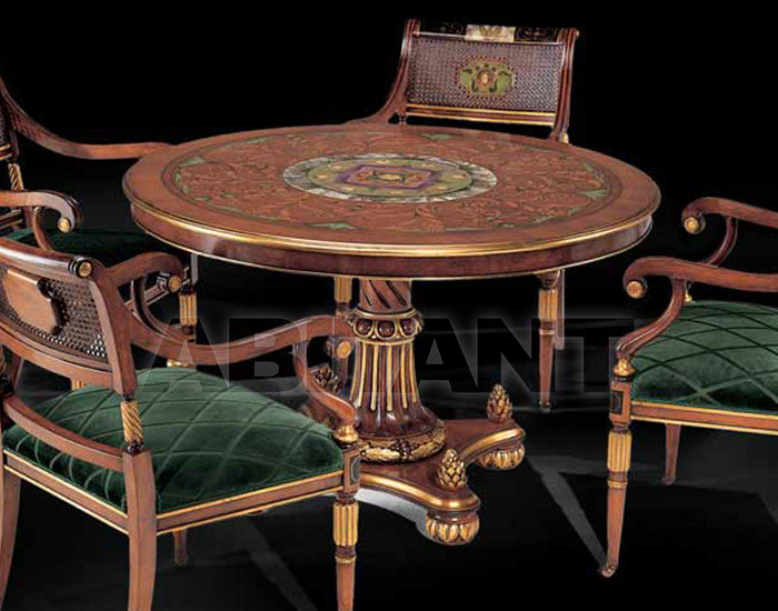 Купить Стол обеденный Isacco Agostoni Contemporary 995 ROUND DECORATED TABLE