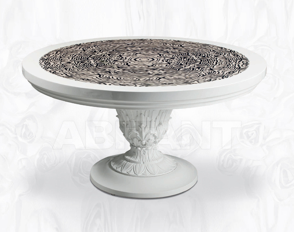 Купить Стол обеденный Isacco Agostoni Contemporary 1359 ROUND TABLEinlaid top like zebra