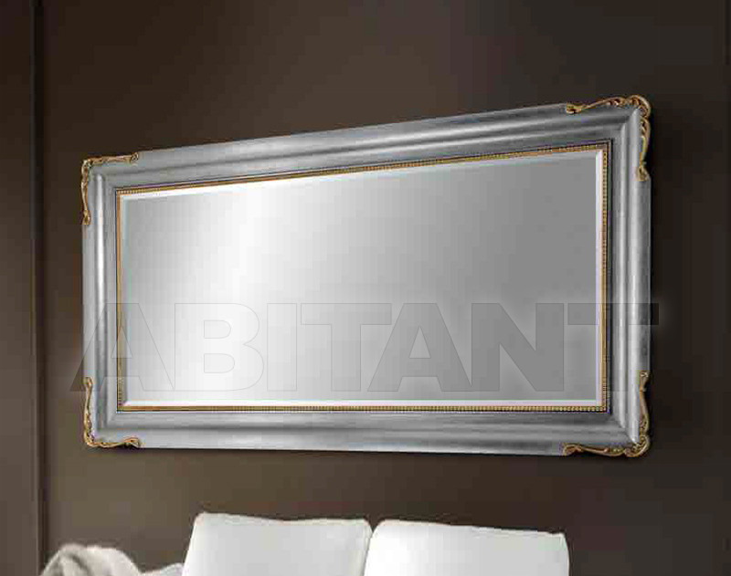 Купить Зеркало настенное Les Andre Cornici 1 0 8 0 Mirror + wood pulp finish silver + gold + silver or gold leaf hand