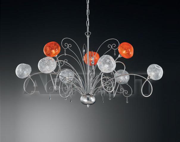Купить Люстра IDL Export Classic Light & Style 358/6+3 ORANGE