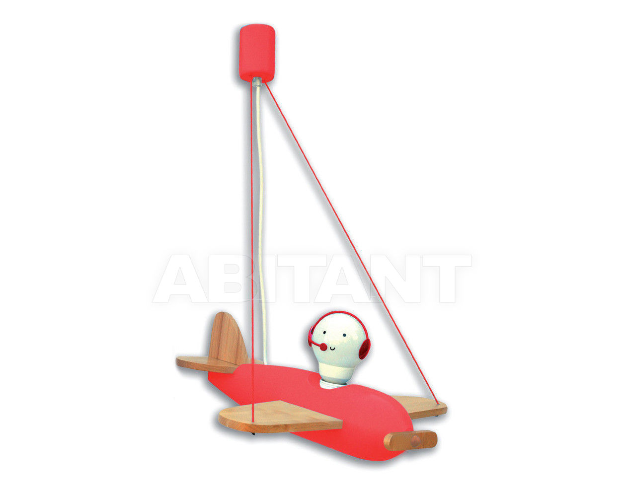 Купить Светильник для детской  Flugzeug Piccolo Waldi Leuchten Lampen Fur Kinder 2012 90152.2 rot