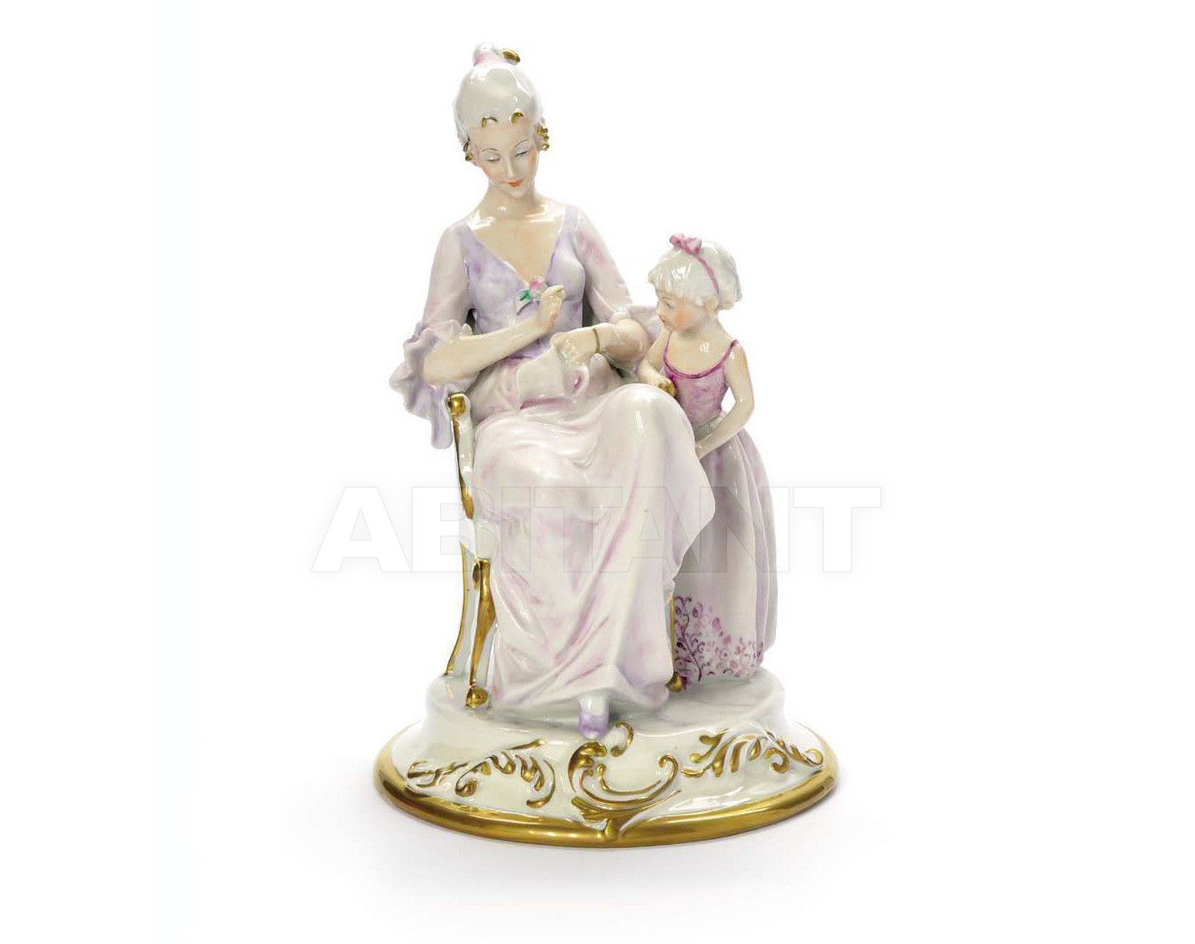 Купить Статуэтка EMMA WITH HER MOTHER Villari Capodimonte T.01175-002
