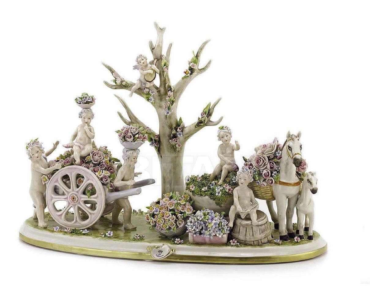 Купить Статуэтка FLOWERED GARDEN Villari Capodimonte T.01738-002