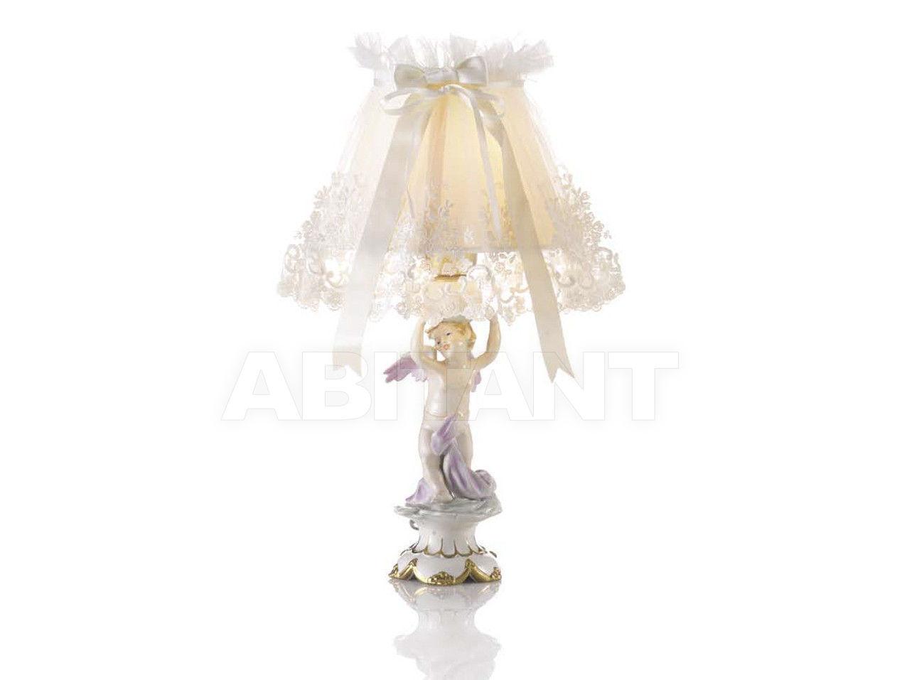 Купить Лампа настольная ATLAS (SCULPTOR) LAMP-EMBROIDED 20 Villari Capodimonte T.00262-002