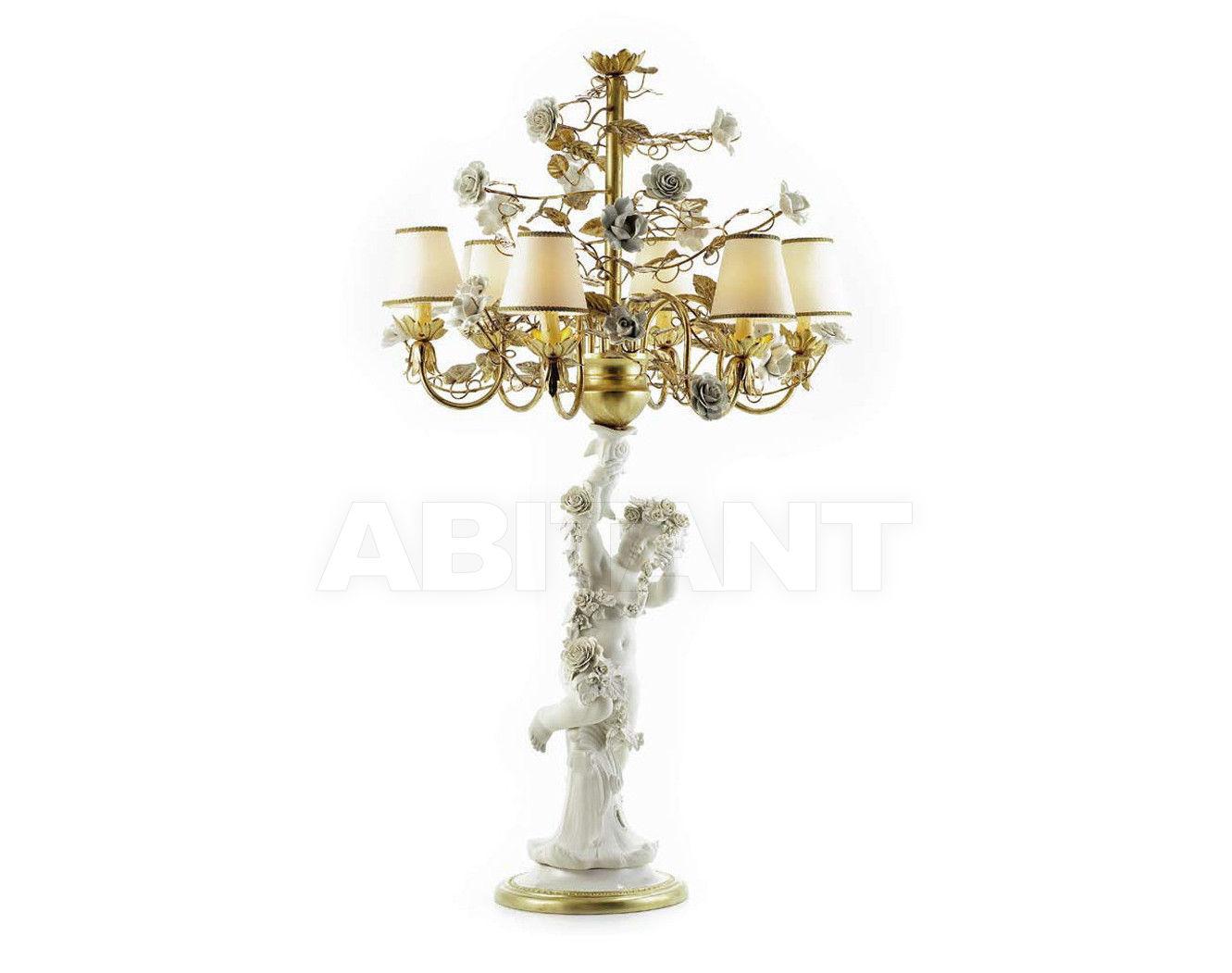 Купить Лампа настольная ANGEL FLAMBEAU Villari Capodimonte 4000138-007 R