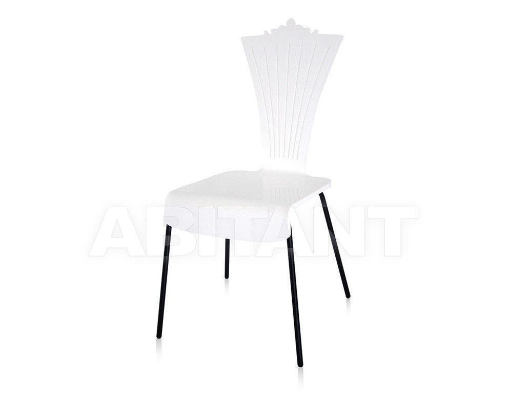 Купить Стул Acrila Outdoor colored Chair with metal legs White