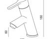 Смеситель для раковины Griferias Galindo BaÑo 8544000 Современный / Скандинавский / Модерн