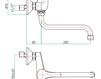 Смеситель для раковины Fiore Aqua 41 CR 4740 Современный / Скандинавский / Модерн