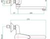 Смеситель для раковины Fiore Aqua 32 CR 4200 Современный / Скандинавский / Модерн
