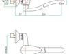 Смеситель для раковины Fiore Aqua 43 CR 4231 Современный / Скандинавский / Модерн