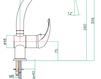Смеситель для раковины Fiore Aqua 43 CR 5462 Современный / Скандинавский / Модерн